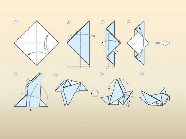 Как сделать птицу из бумаги своими руками фото