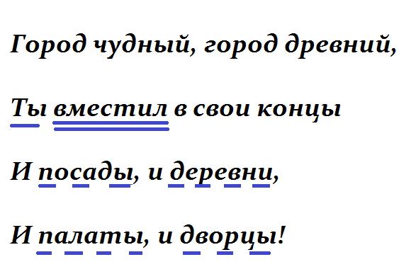 отрывок стихотворения Москва