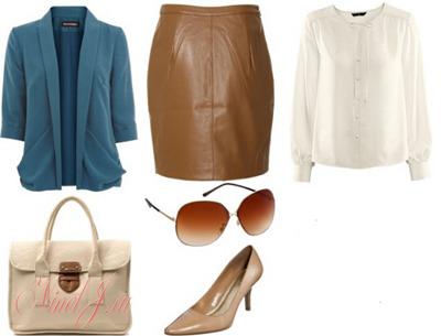 db123ca3827 С чем носить коричневую кожаную юбку