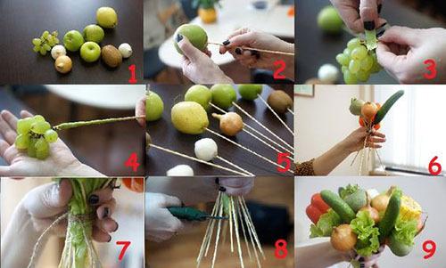 съедобный овощной букет своими руками мастер-класс