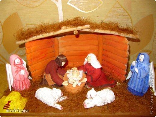 Вертеп рождественский из теста