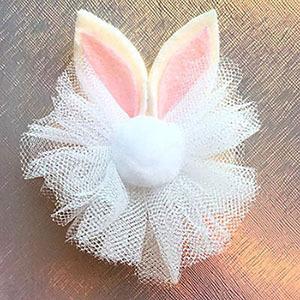 уши зайца (кролика) заколка