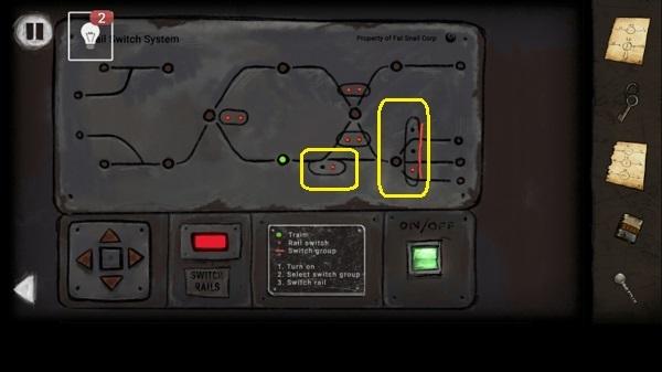 правильное включение на пульте пути для движения поезда в игре выход из заброшенной шахты