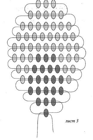 Плетение бисером клевера