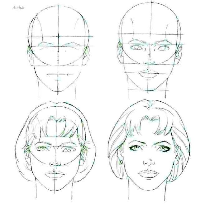 Как научиться рисовать лица людей поэтапно карандашом