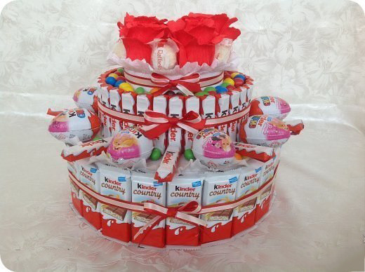 Торт из конфет киндер пошаговое