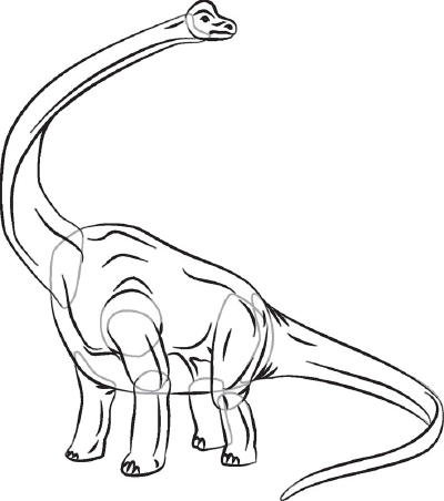 рисовать динозавра