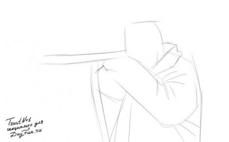 как нарисовать человека с ружьем. как нарисовать стрелка