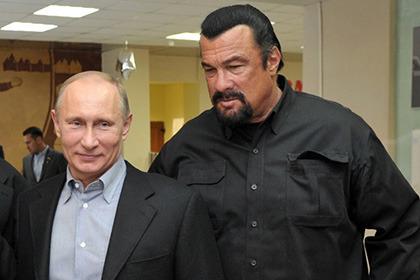 текст при наведении - Сигал и Путин