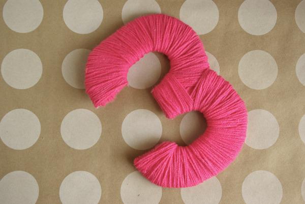 Объемные буквы, цифры из ниток, пряжи, как сделать своими 20