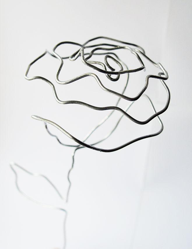 роза из проволоки своими руками мастер-класс