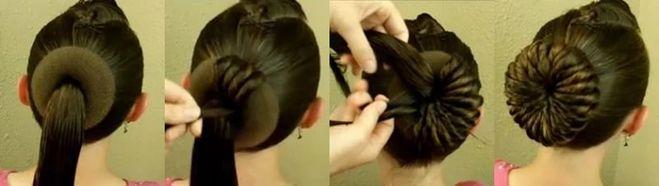 Сделать пучок или шишку на голове