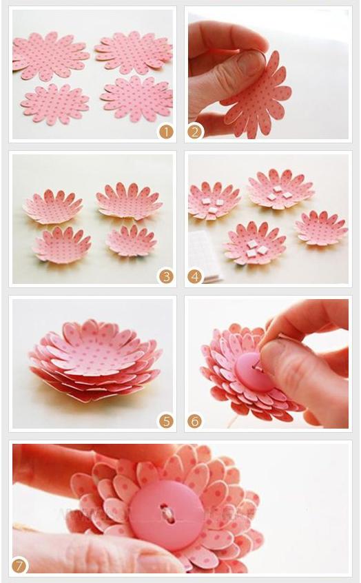 объемный цветок из бумаги для аппликации своими руками