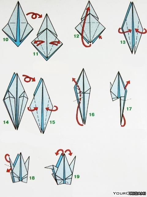 Как сделать легкого лебедя 750