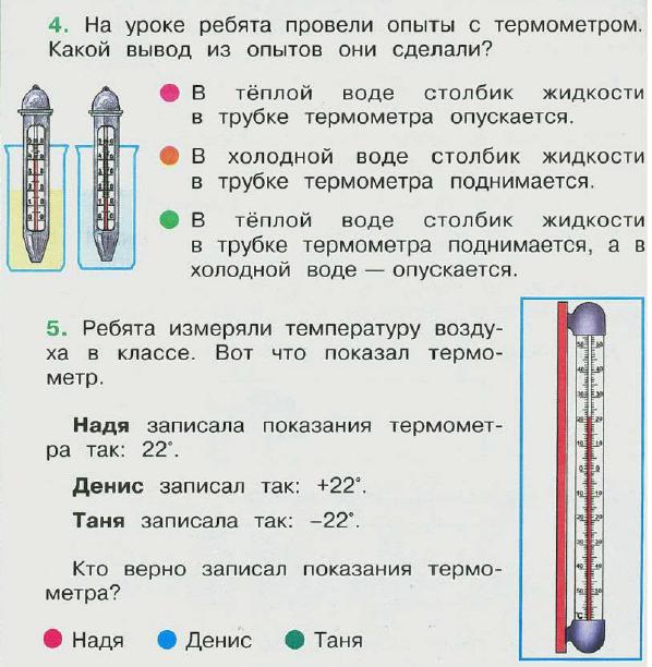 знакомство с термометром беседа