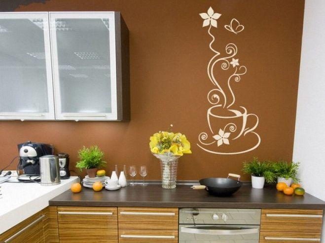 Разрисовываем стену своими руками на кухне