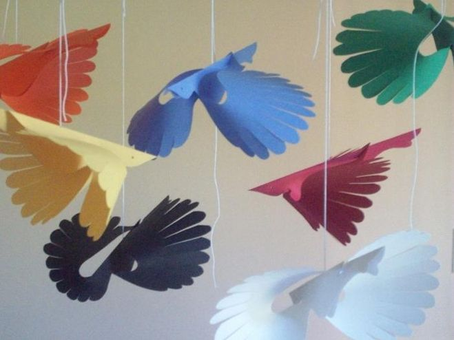 Объёмные птички своими руками 16