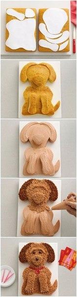 как сделать торт в виде женской грудины