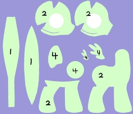 Пони из фетра своими руками выкройки 12