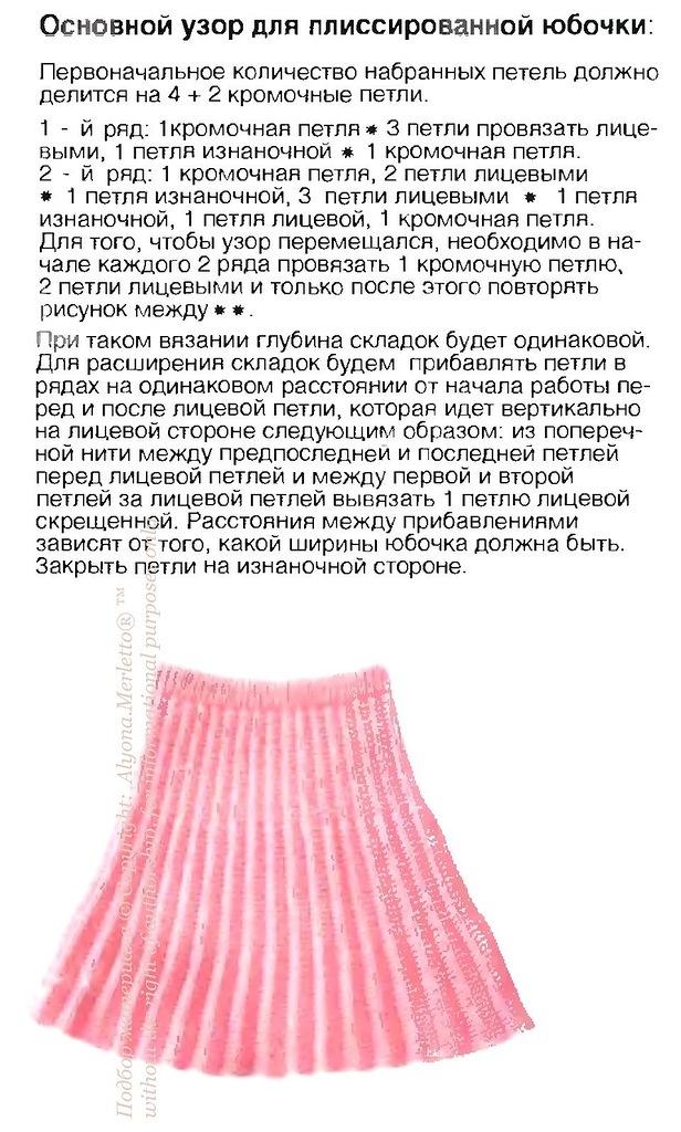 Вязаная юбка колокольчики tamicaru