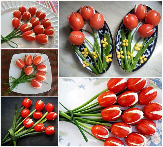закуска из тюльпанов
