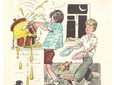 картинка к рассказу мишкина каша носова