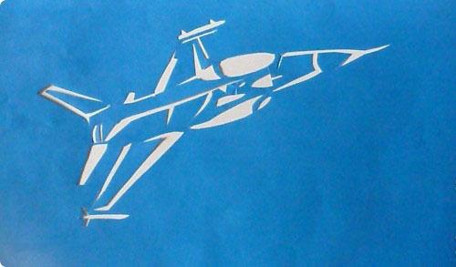Вытынанка самолет шаблон