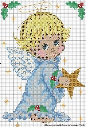 Ангел с ребенком схема для вышивки