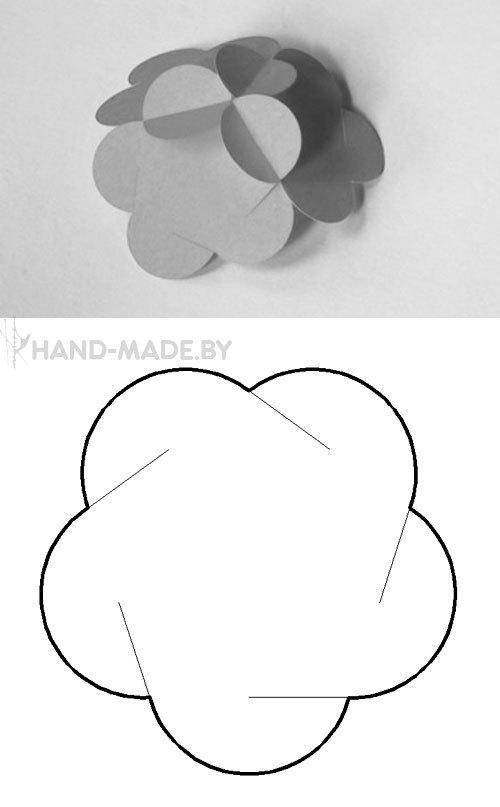 Шарики из бумаги своими руками схемы