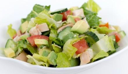 Салат с авокадо с курицей 35