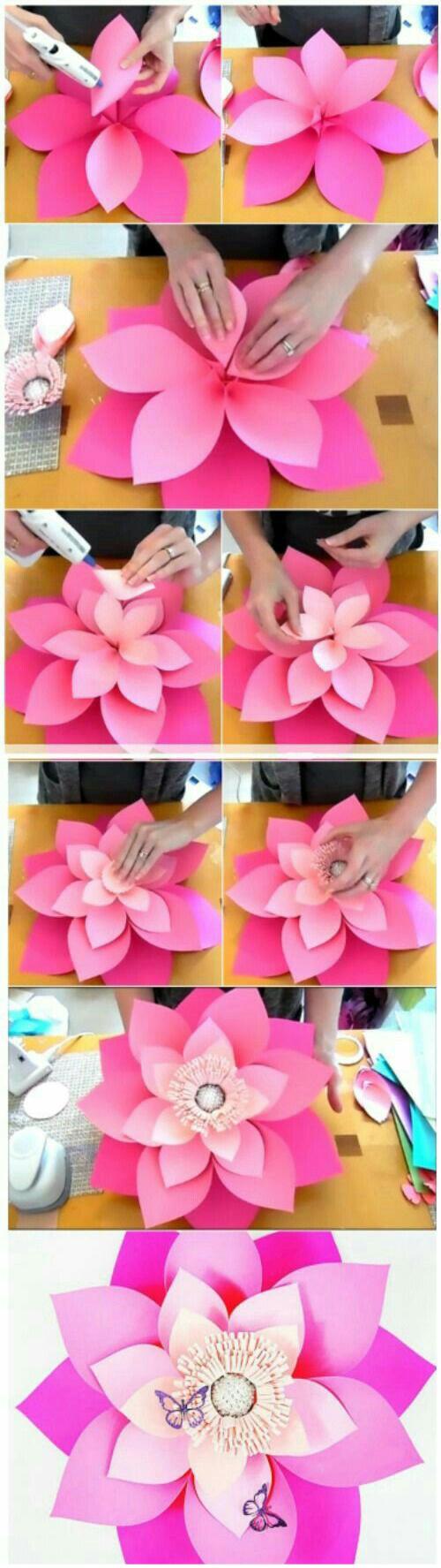 Цветок из бумаги для интерьера