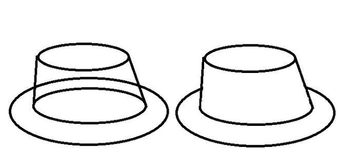 как нарисовать шляпу м