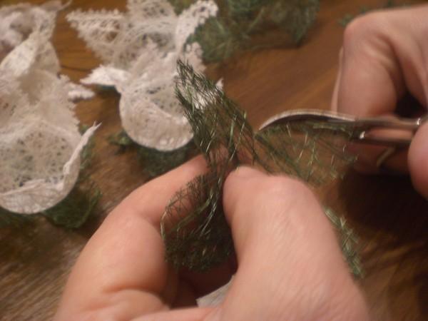 Листья из ниток своими руками фото 240