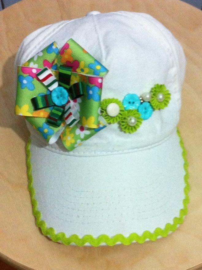 Как украсить кепку своими руками для девочек 59