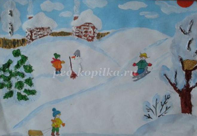 Как нарисовать ледяную горку поэтапно мастер-класс для детей