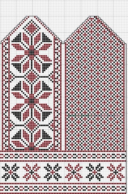 цветами по схеме орнамента