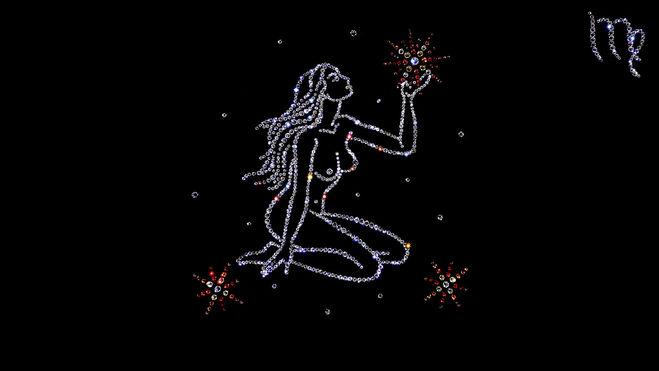 Красиво нарисованный знак зодиака дева