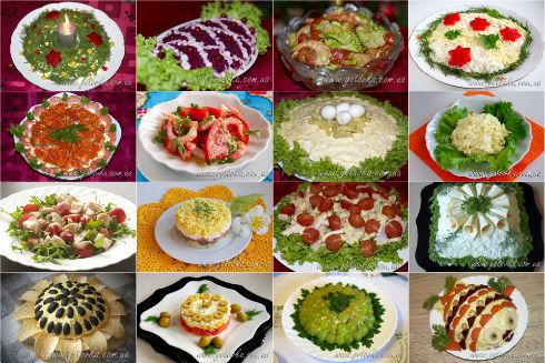какие можно приготовить салаты на новый год с фото