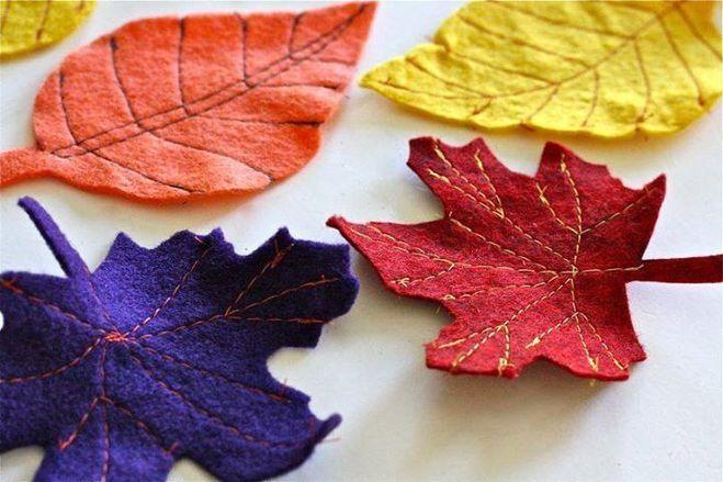 поделки из фетра осень