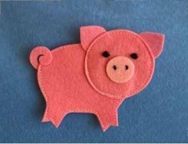 Свинья или поросенок из ткани своими руками: мастер-класс на Новый год 2019, выкройки   фото картинки