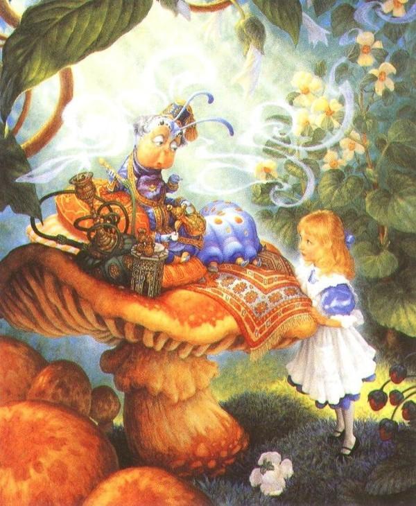 Алиса в стране чудес гусеница