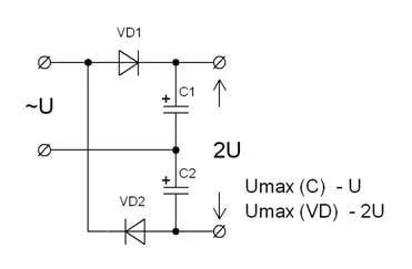 Как определить емкость конденсатора после диодного моста