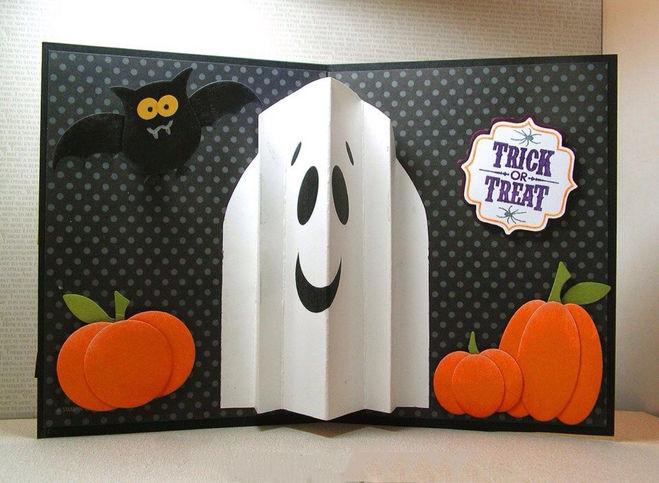 А сделать открытку своими руками на хэллоуин