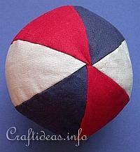 как сшить мяч из ткани