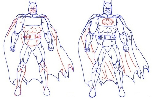 как рисовать Бэтмена 2