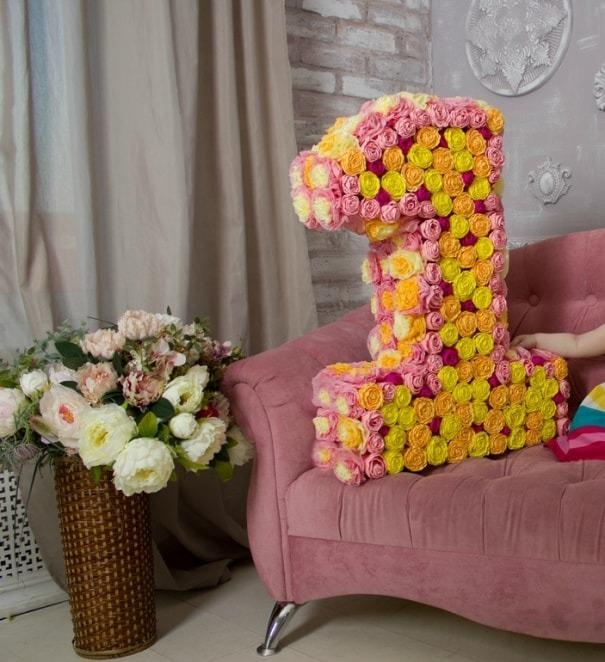 Цветы на цифру к днем рождения