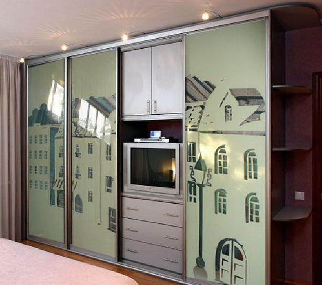 Шкафы купе с рисунком на стекле и зеркале - сайт foto-kupe!.