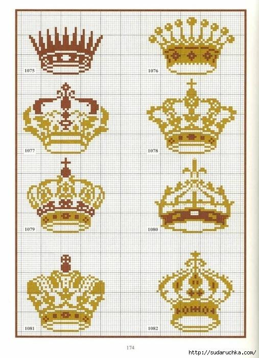 Рисовать корону по клеточкам
