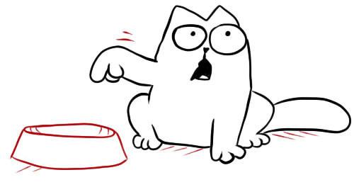 Кот саймон нарисовать поэтапно