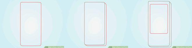 как нарисовать сотовый телефон